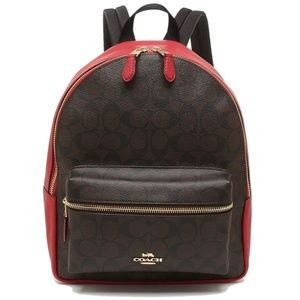 F32200 MEDIUM CHARLIE BACKPACK IN SIGNATURE CANVAS